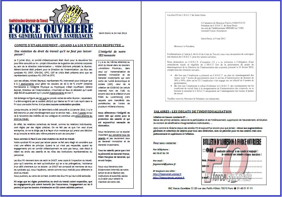 Tract FO Generali 24 Mai 2012