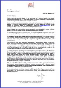 Tract FO Generali : FO maintient la demande légale de consultation préalable au CCE dans 1 - Revendications lettre-mario-greco-generali-07-09-12-209x300