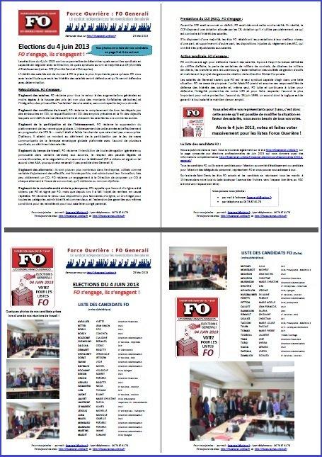 Tract FO Generali du 23 Mai 2013