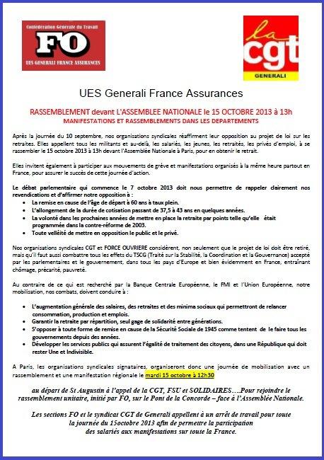 Tract FO Generali : Propositions ASC, Défense de l'UES & Production Informatique externalisation dans 10 - PROD INFO & GTECH & DSI & GIS tract-fo-et-cgt-generali-11-10-2013