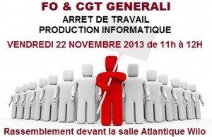 FO et CGT Arrêt de Travail