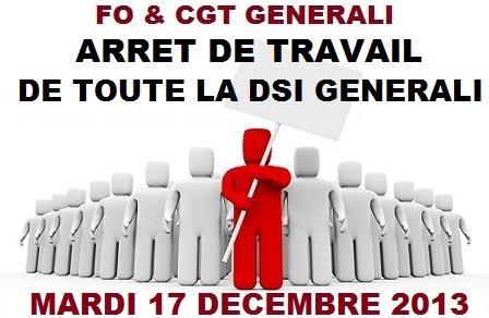 FO et CGT Arrêt de Travail 17 11 13