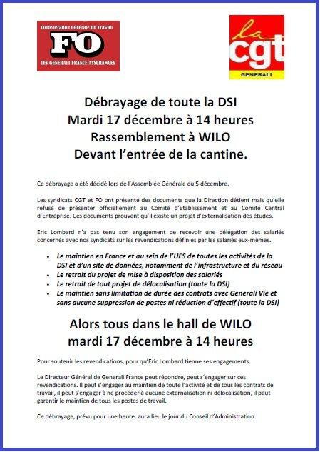 Tract FO & CGT Generali du 16 décembre 2013