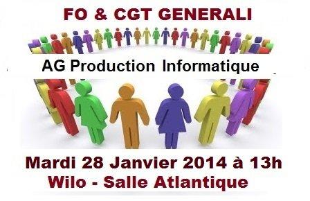 Tract FO Generali : Assemblée des Adhérents, AG Production Informatique, NAO Salaires, ASC  dans 1 - Revendications ag-fo-cgt-generali-prod-info-28-01-14