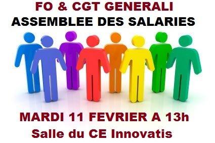 FO et CGT Assemblée des Salariés de Generali 11 02 14