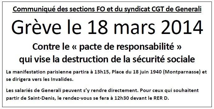 Communique FO & CGT 18 Mars