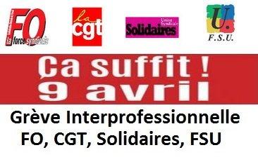 Appel FO et CGT Generali - AG Saint-Denis du 2 avril et grève du 9 avril 2015 dans 1 - Revendications ca-suffit-logo