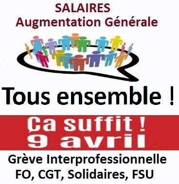 Tract FO Generali : Salaires/Formation/ Epargne salariale/Grève 9 Avril/ASC/Expertise Informatique dans 1 - Revendications tous-ensemble-v2b