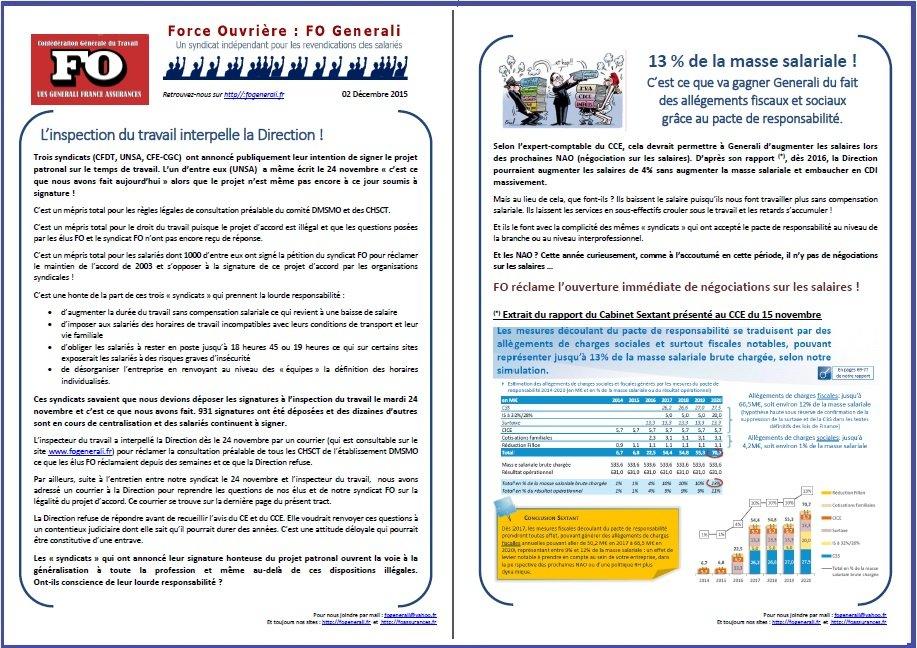 Tract FO Generali du 02 Décembre 2015