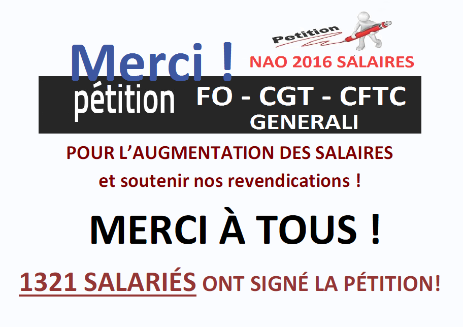 Pétition FO CGT CFTC GENERALI -  Bilan des signatures : 1321 signataires !  dans 0 - Accord Temps Travail resultat-petition-1321-signatures-vb2