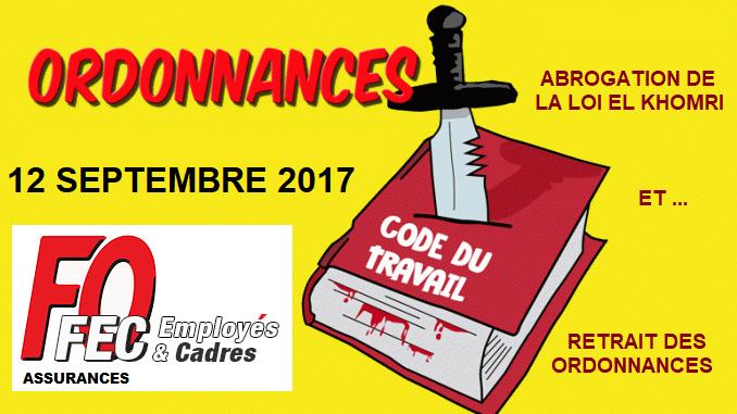 Tract FO Generali : Communiqué FEC FO Assurances / Grève et Manifestations 12 Septembre  dans 1 - Revendications fo-assurances-ordonnances