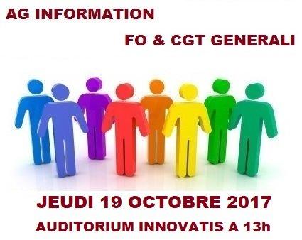 AG FO CGT GENERALI 19 octobre 2017