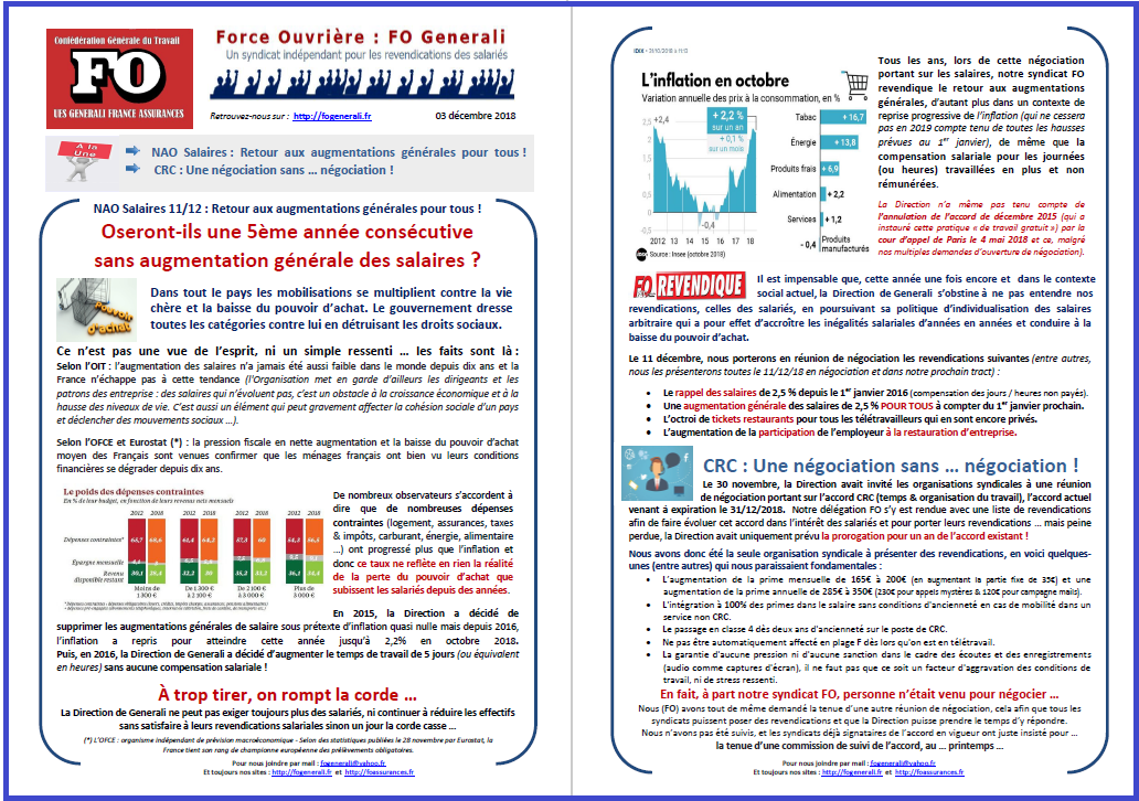 Tract FO Generali : NAO Salaires - Négociation CRC dans 0 - Accord Temps Travail tract-fo-generali-03-12-18