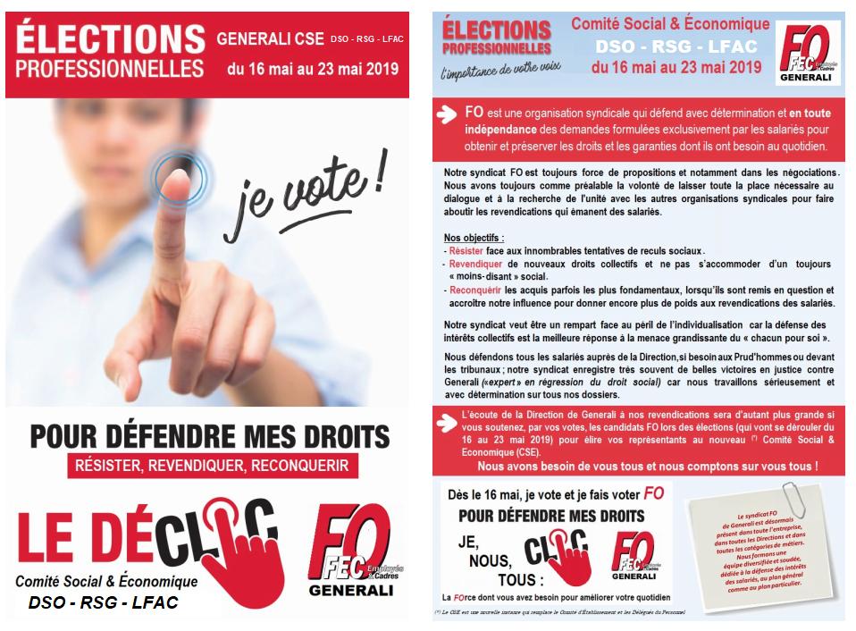 FO Generali Elections Professionnelles Mai 2019