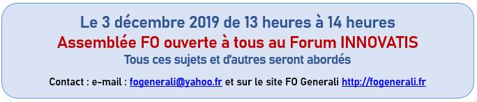 Assemblée FO Generali 3 décembre 2019